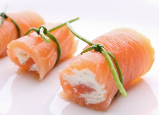 rollitos de salmon ahumado para calmar la ansiedad