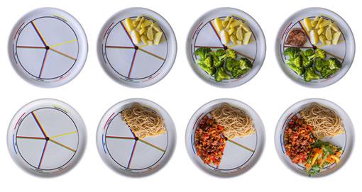 medir raciones dieta
