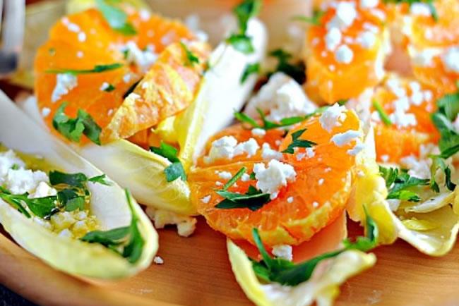 ensaladas para adelgazar de endivias y naranja
