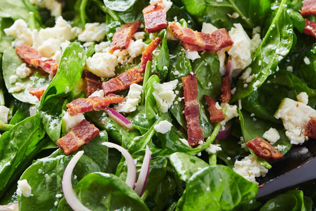 Ensalada de espinaca para dieta