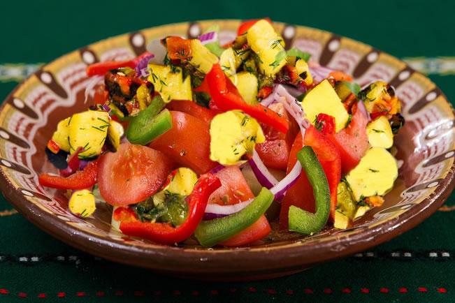 ensaladas para perder peso de pimientos