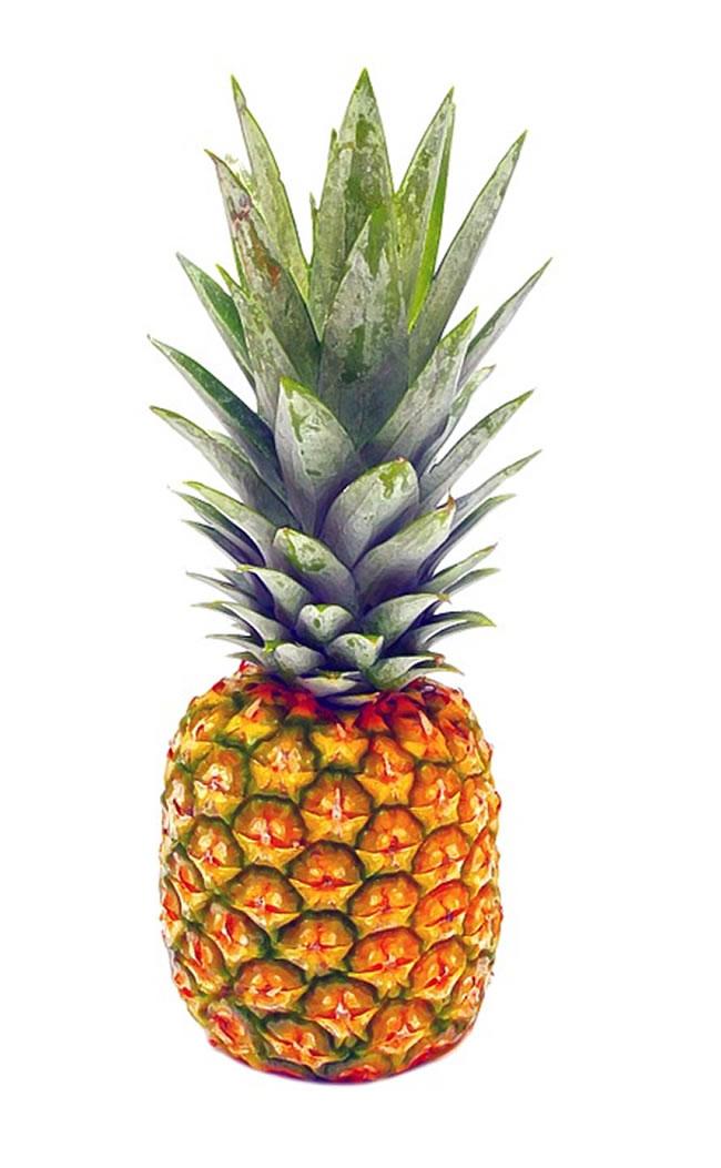 Una piña, fuente de vitamina C